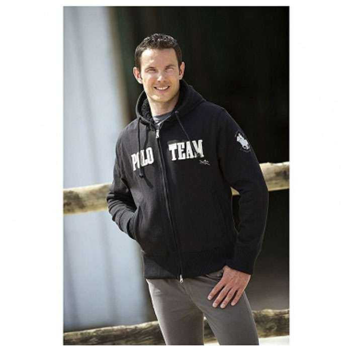 equi thème polo collection sweat noir