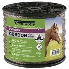 Cordon Paddock marron 5mm Beaumont